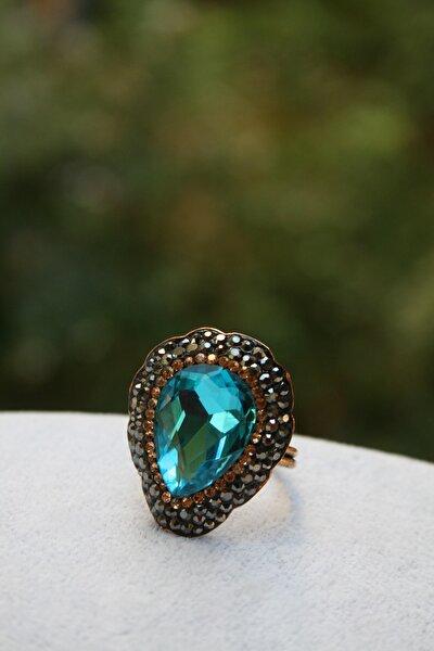 Jewellery Kristal Taşlı El Yapımı Yüzük