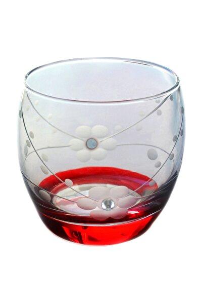 Doğa Kırmızı Taşlı  Barel Su-meşrubat Bardağı 6 Adet