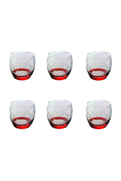 Paşabahçe 41010 Doğa Kırmızı   Barel Su-meşrubat Bardağı 6 Adet