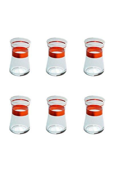 42361 Heybeli Kırmızı (1+1) Dekor 6 Adet Çay Bardağ