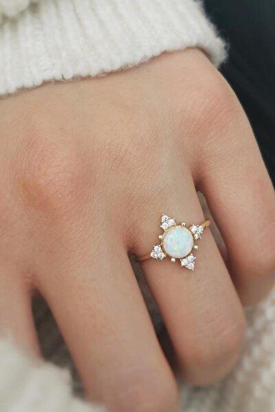 Opal Altın Yüzük