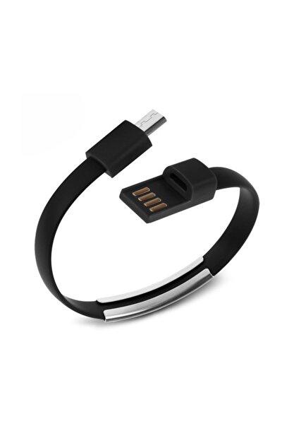 Powerx Mıcro Usb Siyah Bileklik Şarj&data Kablo
