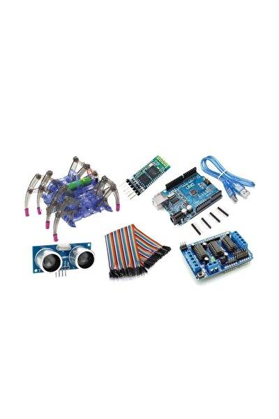 Auino Bluetooth Kontrollü Örümcek Robot Kiti