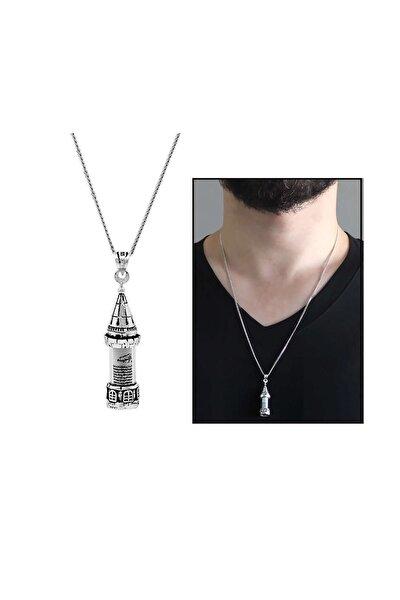 Galata Kulesi Tasarım 925 Ayar Gümüş Cevşen Kolye 103000990