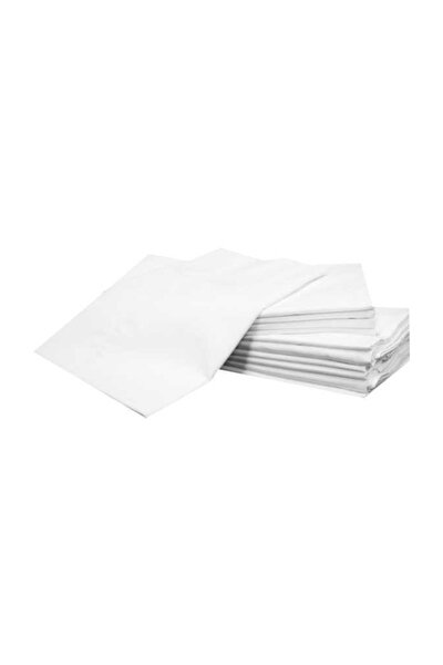 Yastık Içi Kılıf Fermuarlı Beyaz 8 Adet %40 Pamuk+%60 Polyester