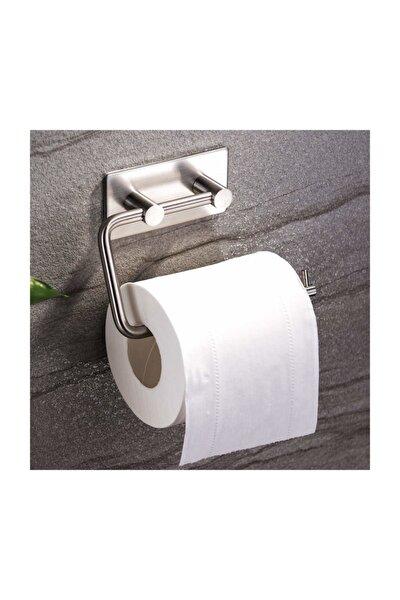 Paslanmaz Çelik Tuvalet Kağıtlığı Aparatı - Yapışkanlı Sistem - Inox