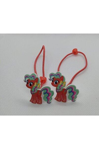 2' Li Pony Lastikli Okul Tokası Yavruağzı