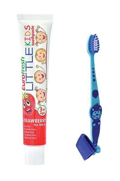 3 Yaş Ve Üzeri Çocuk Diş Macunu 50 Gr + Diş Fırçası Mavi