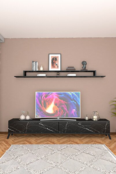 Lodos Siyah Mermer Tv Ünitesi