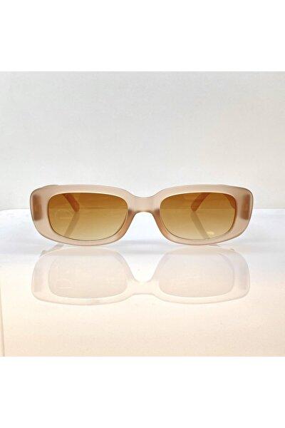 Kadın Açık Kahve Mat Retro Güneş Gözlüğü