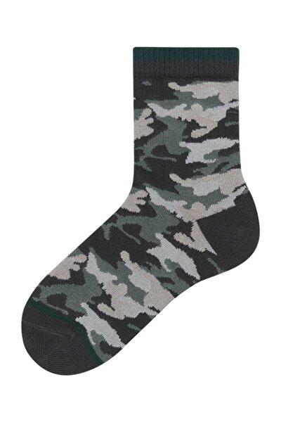 Kamuflaj Desenli Çocuk Çorabı
