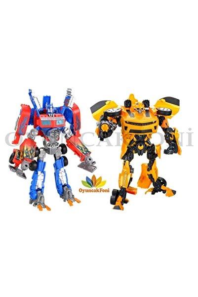 2'in 1 Dönüşebilen Oyuncak Transformers Optimus Ve Bumblebee