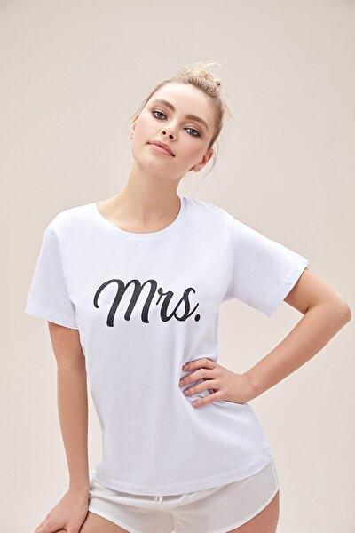 Kadın Beyaz Mrs. T-Shirt Ocmrs-Tshırt