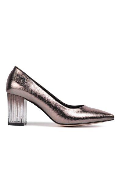 50745 Platin Kadın Topuklu Ayakkabı