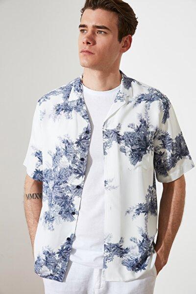 Çok Renkli Erkek Regular Fit Apaş Yaka Kısa Kollu Gömlek TMNSS21GO0827