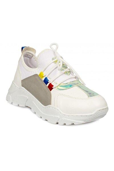 Kız Çocuk Beyaz  968.f20y.409 Filet Spor Ayakkabı