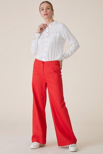 Kadın Pantolon-Kırmızı TK-U6608-11