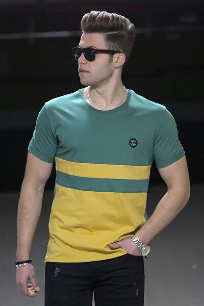 Renk Bloklu Sarı Tişört 4501