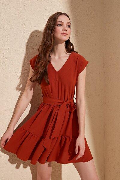 Kiremit Kuşaklı Elbise TWOSS20EL0628
