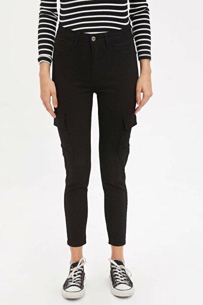 Kadın Siyah Anna Super Skinny Dokuma Pantolon M7718AZ.20SP.BK27