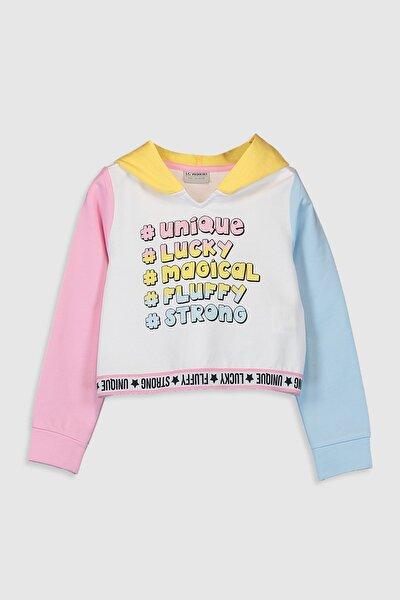 Kız Çocuk Optik Beyaz E5X Sweatshirt