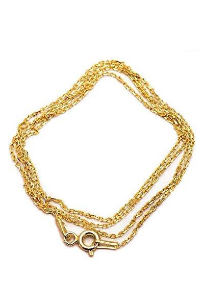 50 Cm Altın Yaldızlı Gümüş Zincir 26