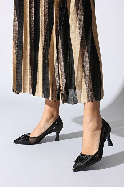 Siyah Kadın Klasik Topuklu Ayakkabı 0382427-02