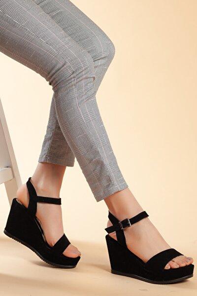 Siyah-Süet Kadın Ayakkabı DXTRSAYŞ203