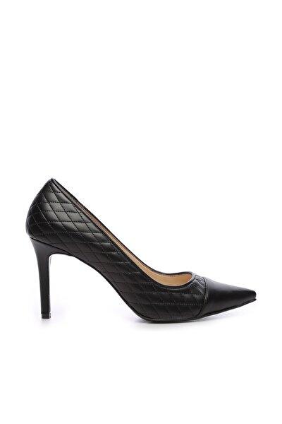 Siyah Kadın Vegan Stiletto Ayakkabı 22 6512 BN AYK SK19-20