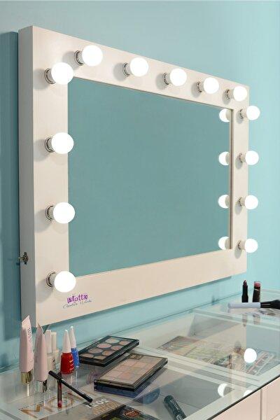 Hollywood Işıklı Kulis Makyaj Aynası (85x65cm)
