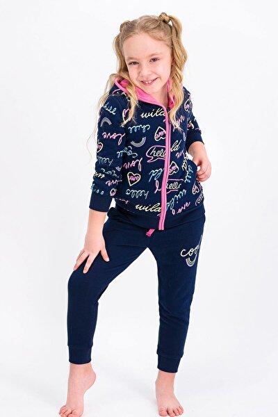 Kız Çocuk Lacivert Cool Love  Eşofman Takımıı