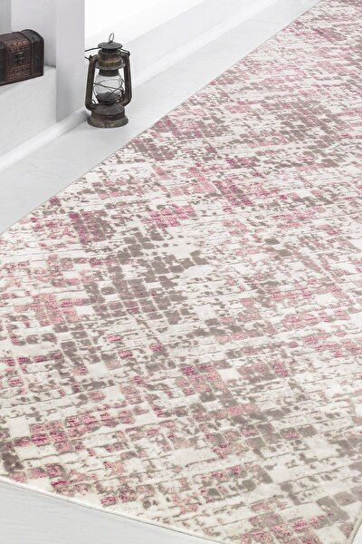 Sarar Halı Mozaik Pudra Kaymaz Yıkanabilir Kesme Yolluk Salon Koridor Banyo Mutfak Halısı 80x150 cm