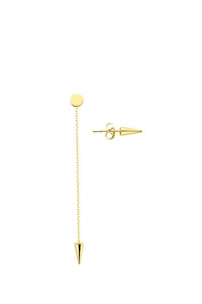 Kadın Gold Zincirli Vida Çelik Küpe KP-A2351