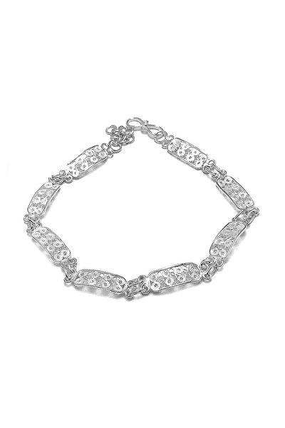 Kadın İnce Model Telkari Gümüş Bileklik 2020420
