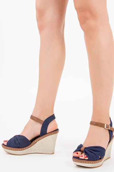 Lacivert Kadın Dolgu Topuklu Ayakkabı F674040405