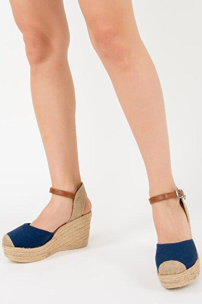 Lacivert Kadın Dolgu Topuklu Ayakkabı F432899905
