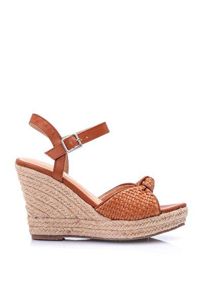 Kahverengi Kadın Dolgu Topuklu Ayakkabı