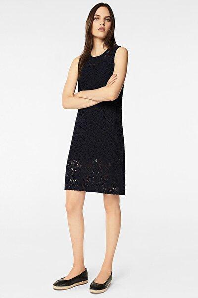 Kadın Lacivert Dantel Detaylı Elbise