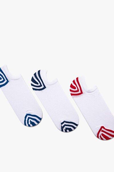 Kadın Beyaz 3'lü Çorap