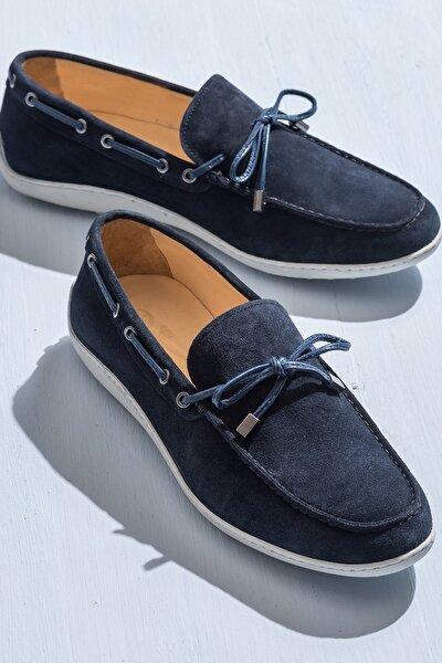 TEON Hakiki Deri Lacivert Erkek Ayakkabı