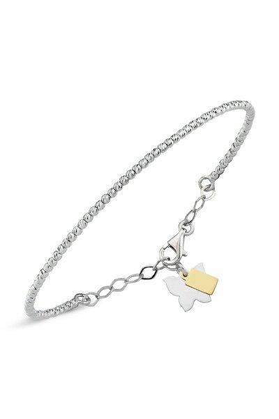 Kadın Beyaz Altın Top Bileklik AG00175BL-001