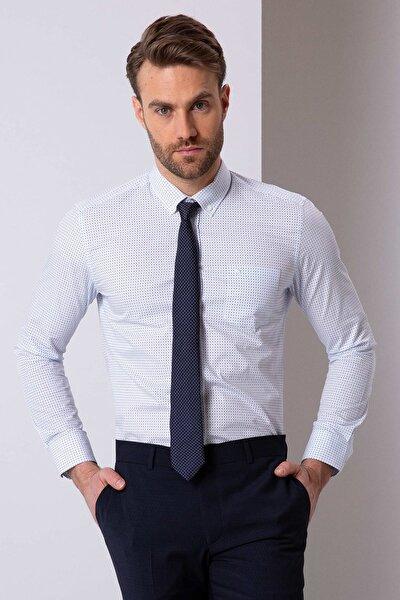 Erkek Beyaz Regular Fit Gömlek G021GL004.000.771239
