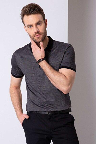 Erkek Siyah Regular Fit T-Shirt