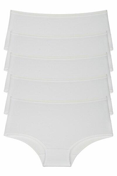 Beyaz Kadın Külot 5'li Paket