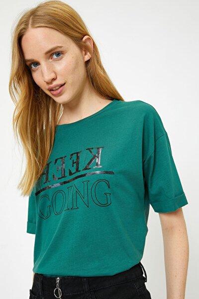 Kadın Yeşil T-Shirt 9KAL19033IK