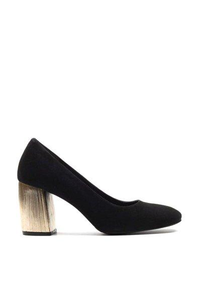 Hakiki Deri Siyah   Klasik Topuklu Ayakkabı 01AYH146900A100