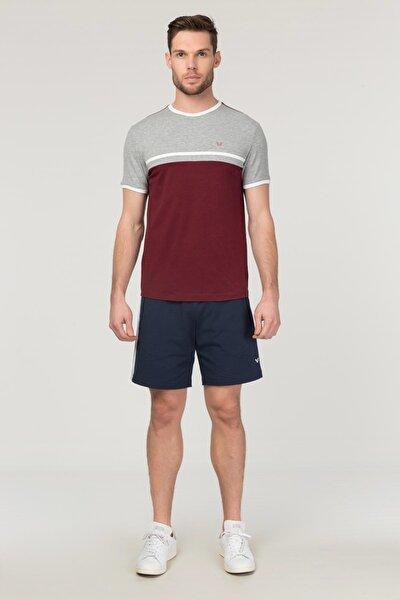 Bordo Pamuklu Erkek T-Shirt FS-1762