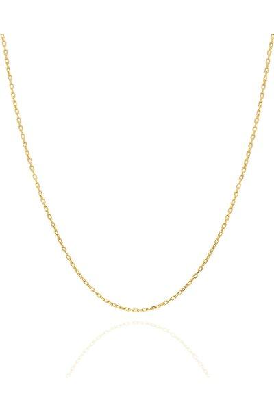 Kadın Hayalet Modeli 45 CM Gümüş Altın Kaplama Zincir İZLASLVR00596