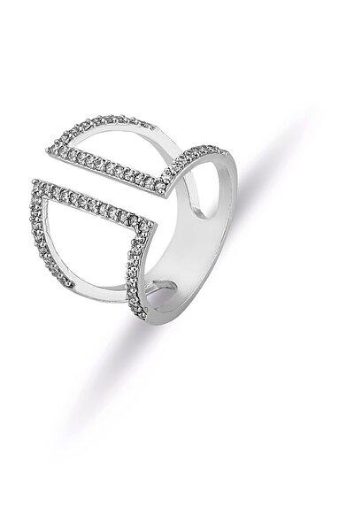 Kadın  Gümüş Kaplama Ayarlanabilir Tasarım Yüzük PS0846