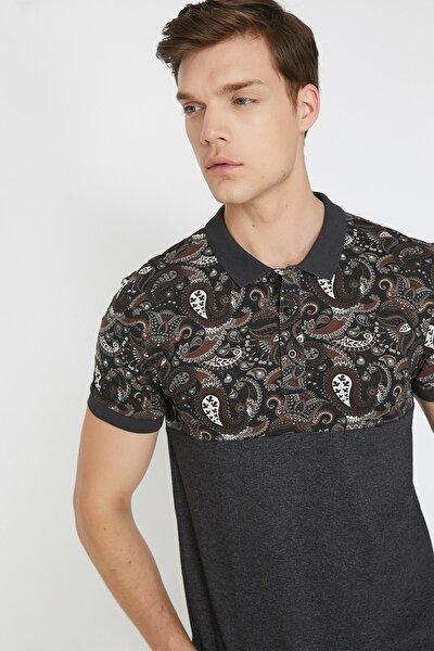 Erkek Gri Polo Yaka T-Shirt 9YAM11350HK
